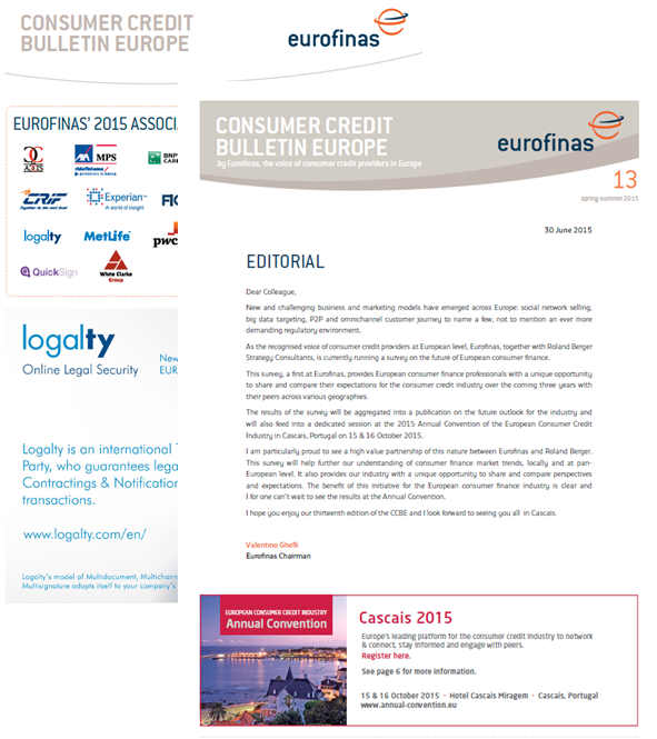 Newsletter Eurofinas Logalty